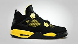 "NIKE(ナイキ)/AIR JORDAN 4 RETRO""THUNDER""[BLACK/YELLOW]308497-008"
