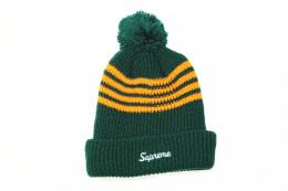Supreme(シュプリーム)/4-Stripe Loose Gauge Beanie[GREEN/ORANGE] FW13BN23 CAP キャップ