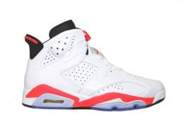 "NIKE(ナイキ)/AIR JORDAN 6 RETRO""INFRARED""[WHITE/INFRARED-BLACK]384664-123 メンズ"