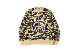 A BATHING APE(ア ベイシング エイプ)/WIND STOPPER 1ST CAMO SHARK CREWNECK[YELLOW]2015