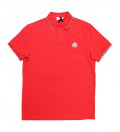 Moncler(モンクレール)/POLOシャツ 衿・袖ライン入り[RED]