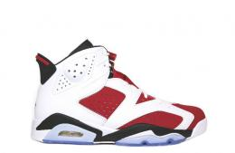 "AIR JORDAN 6 RETRO""CARMINE""[WHITE/CARMINE RED-BLACK]384664-160"