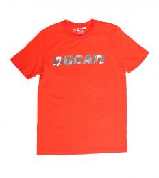 PUMA(プーマ)/DUCATI LOGO(ロゴ) T-SHIRT(シャツ) 【RED】