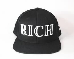 40oz NYC X Rich collaboration rich hat VINTAGE FRAMES[black/white stitched]