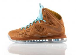 "NIKE(ナイキ)/LEBRON X EXT DENIM QS""Brown Suede""""Hezel Nuts""607078-200"