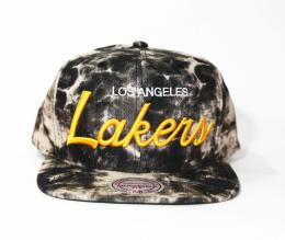 Mitchell&Ness/Exclusive Snap BACK CAP-Los Angeles Lakers-[Acid Black Denim]