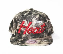 Mitchell&Ness/Exclusive Snap BACK CAP-Miami Heat-[Acid Black Denim]