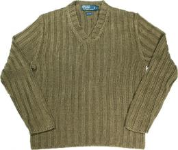 POLO RALPH LAUREN linen sweater [OLIVE]