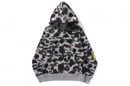 A BATHING APE(ア ベイシング エイプ)/HEATHERGRAY CAMO SHARK FULL ZIP HOODIE[H.GRAY]2