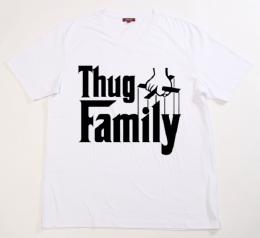 Thug Family/Official T-shirts/C NECK/premium[white]